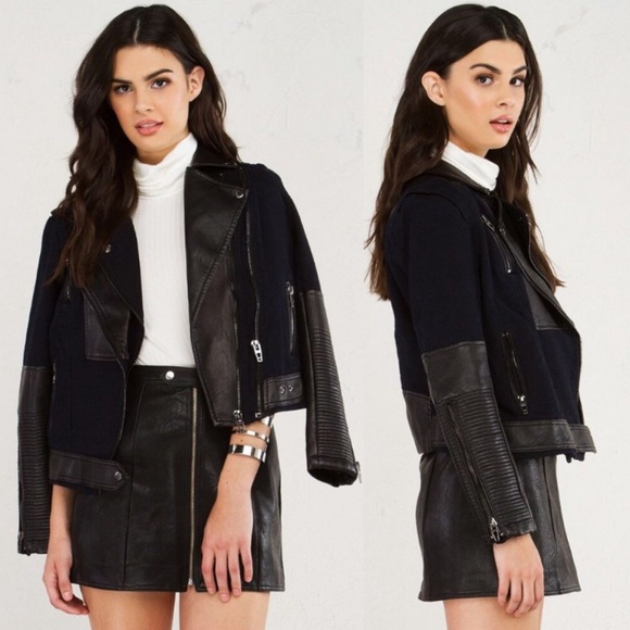 Blank NYC Jackets & Blazers - BLANKNYC Sour Faced Faux Leather Moto Jacket